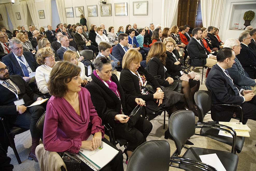 Imagen general del salón multiusos del Parlamento de Andalucía donde se han celebrado los Premios Daza de Valdés